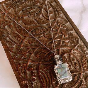 Ocean Sea Glass Bottle Necklace
